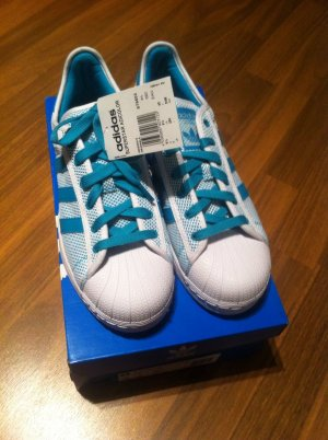 Neu! Original ADIDAS Sneaker weiß türkis Gr. 6,5 40