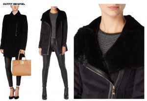 Armani Short Coat black