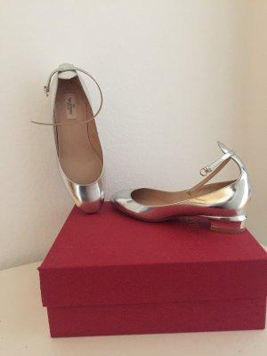Neu & Original Ballerina mit Riemchen in Silber