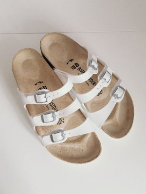 Birkenstock Sandalias blanco-beige