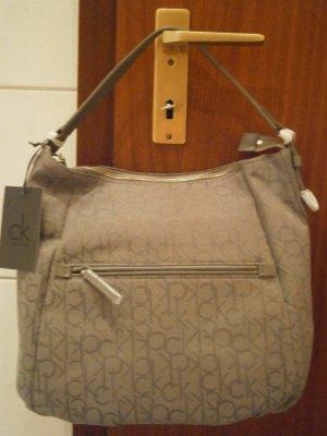 *NEU*ORIGINAL* Calvin Klein Damen Tasche, grau, Canvas, NP 199€