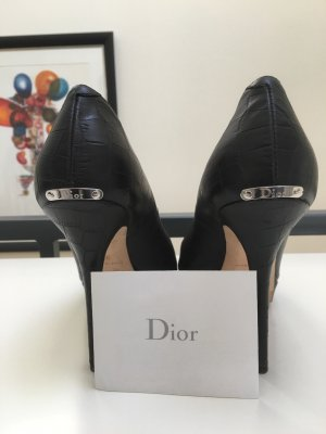 NEU Original Christian Dior High Heel Leder Peeptoes