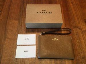 NEU— Original Coach NY ,Clutch inside Tasche; Geldbeutel cognac