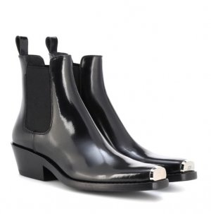 Calvin Klein Western Booties black-light grey leather