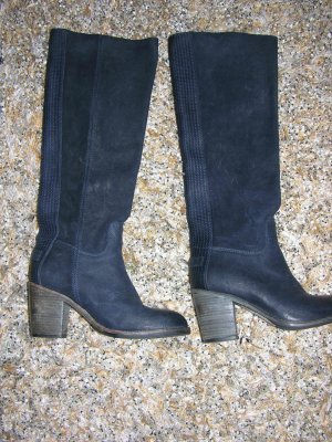 Neu! Original Shabbies hohe Stiefel in Schwarzblau, Gr. 37