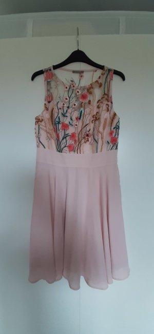 NEU Orsay A-Linien Kleid mit Netzoptik und Stickerei rosa Brautjungfer Gr. 38 (fällt wie 36 aus!)