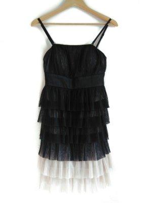 Neu Orsay Kleid 36 S Schwarz Tüll Tüllkleid Beige