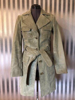 Orsay Manteau en cuir gris vert cuir