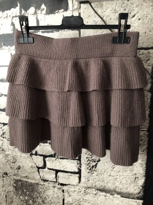 Orsay Wool Skirt grey brown