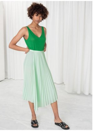 & other stories Midi Skirt multicolored polyester
