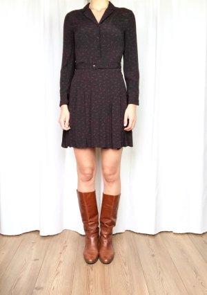 & other stories Shirtwaist dress black-red viscose