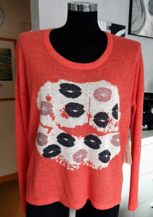 NEU! Over Size Pullover mit Print Lachs S / M