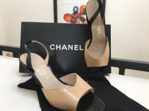 NEU & OVP Original Chanel Slingpumps Slingbacks Nude
