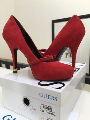 Guess Tacones altos rojo