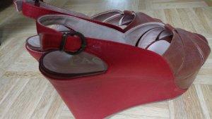 NEU!! Paco Gil Gr 41 / 41,5 Plateau Schuhe super bequem rot braun.