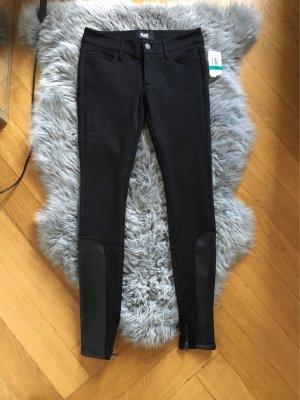 Neu paige Hose Jeans schwarze Stoffhose w24 34 36 skinny leather Leder