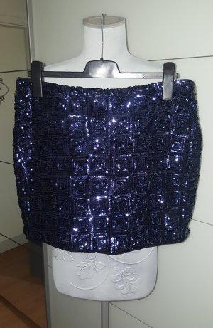 HM Minifalda azul-azul oscuro