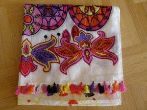 NEU! Passigatti sehr schöner ausgefallener Schal Baumwolle Seide