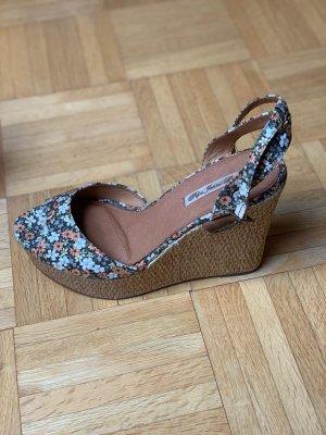 NEU Pepe Jeans London Wedge-Schuh mit Blumenmuster