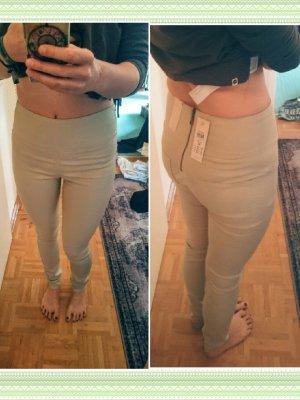 NEU Pieces High-Waist Jeans Beige