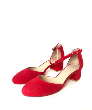 Pier one Mary Jane pumps rood Suede