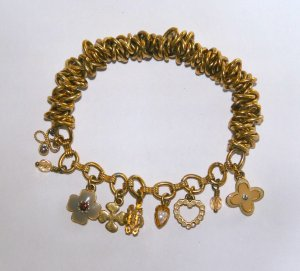 Pilgrim Charm Bracelet gold-colored