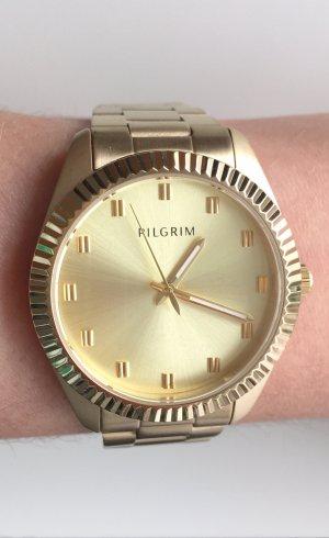 ** NEU ** PILGRIM Uhr gold vergoldet Bruttoweite: 35 mm Metallband mit Etikett, Original Box und RE!