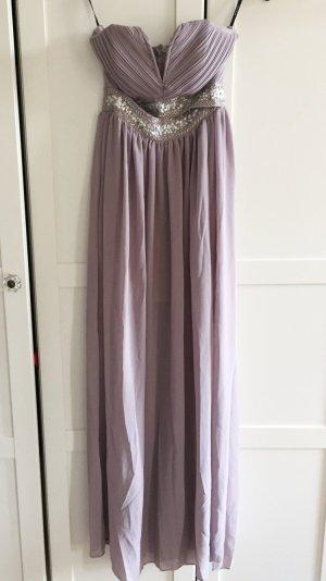 NEU Plissiertes Maxikleid verzierte Taille bestickt Abendkleid Hochzeitsgast