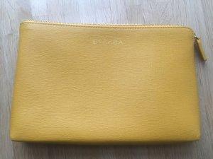 Escada Clutch dark yellow leather