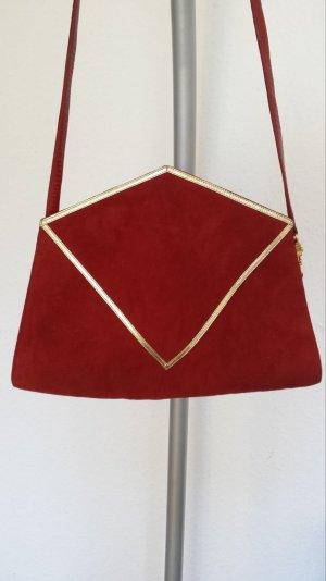 Neu Pollini Original Vintage Tasche Handtasche Schultertasche Trendfarbe D- Rot