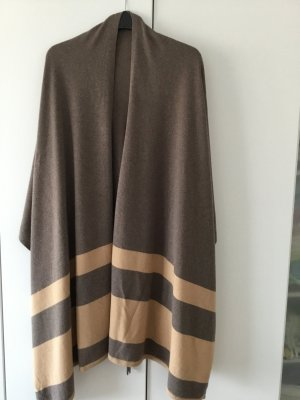 Adenauer & Co Poncho in maglia marrone-grigio-color cammello