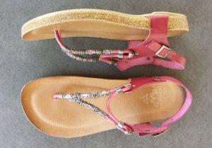 Sandalo toe-post bordeaux-viola