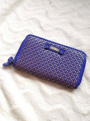 NEU Portemonnaie/Clutch in leuchtendem Blau und Gold von Jessica Simpson