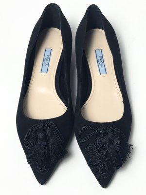 Neu Prada Ballerina schwarz Gr. 36,5
