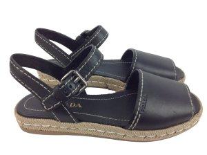 Neu Prada Sandale schwarz Gr. 39,5