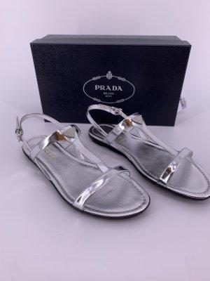 Prada Outdoor Sandals silver-colored