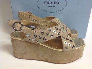 Neu Prada Schuhe beige Gr. 40,5