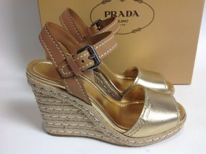 Neu Prada Schuhe gold Gr. 41,5