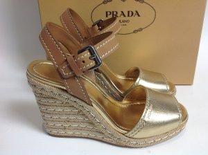 Neu Prada Schuhe gold Gr. 41