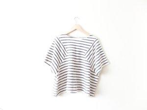 neu Promod Shirt blau weiß gestreift Gr. L 38 40 oversized