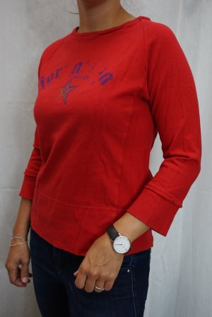 Fornarina Short Sleeve Sweater red-blue