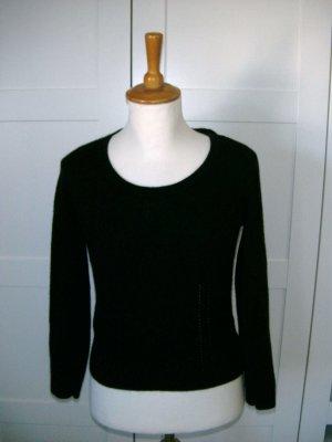 neu, Pulli, Pullover mit Cut-out, schwarz, H&M, Gr. S, Angora