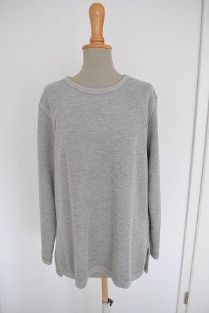 Neu Pulli von Zara Sweater grau Struktur meliert L 38 M 36 S