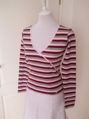 Neu!Pullover/Langarmshirt von KangaROOS,Gr.34/S,in Rottönen,gestreift/Sale%%