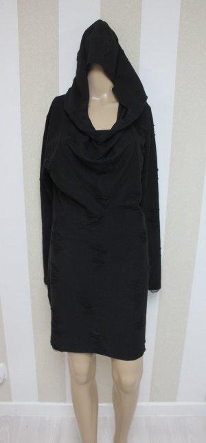 NEU Pullover Longpulli im Destroyed Look mit XL Kaputze Größe L