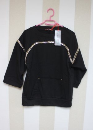 Sweater black-gold-colored
