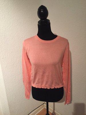 Bershka Kraagloze sweater zalm