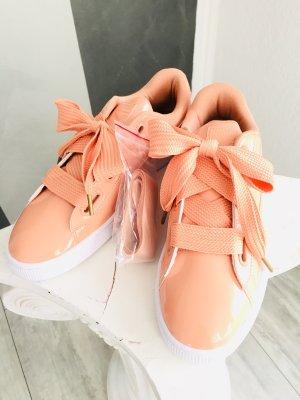 NEU - Puma Basket Heart Patent Sneaker Gr. 42,5 - dusty coral