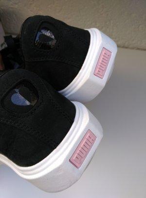 Neu. PUMA Leder Sneakers Gr.38,5 schwarz+weiss NP:99€