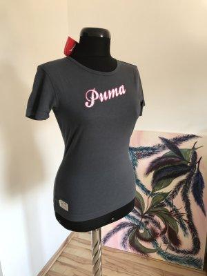 NEU! PUMA T-Shirt mit Logodruck- und Stickerei